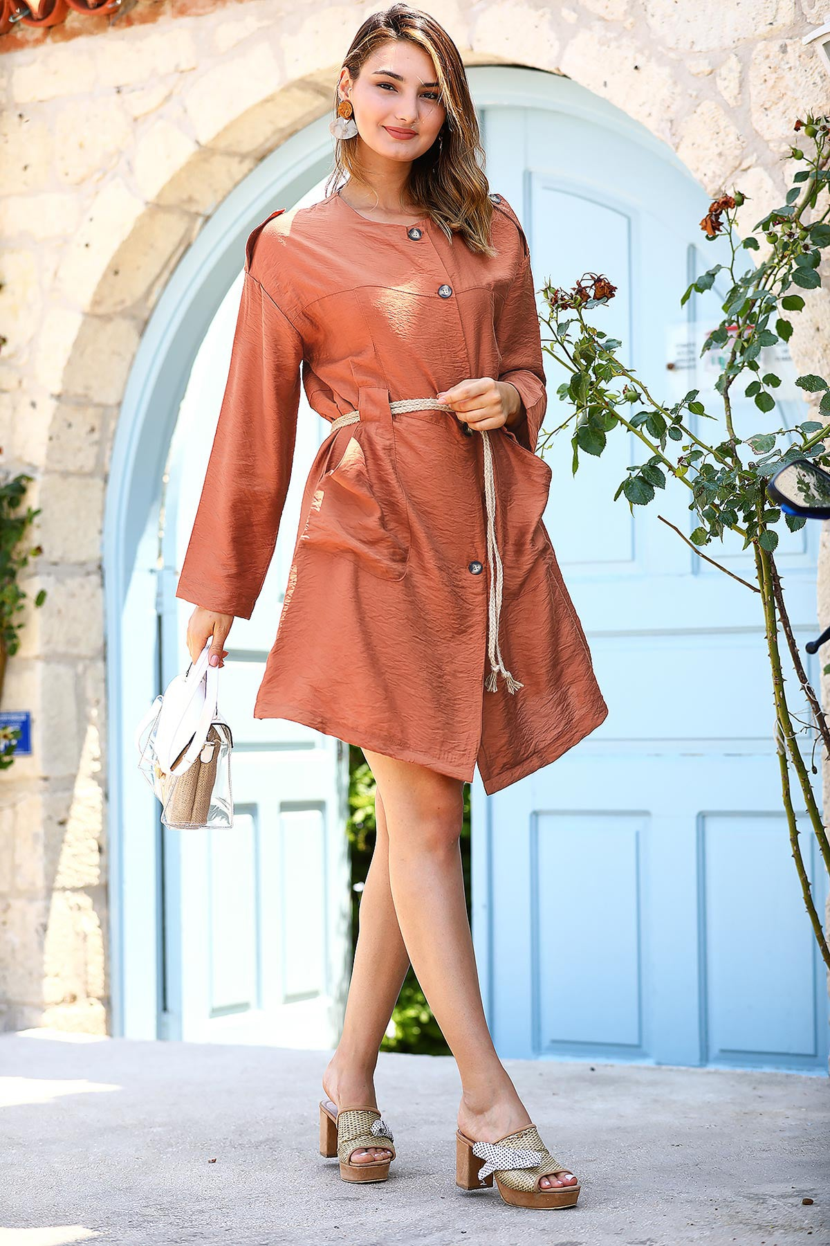Women's Belted Ginger Dress