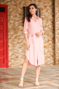 Layered Sleeves Striped Tunic & Dress