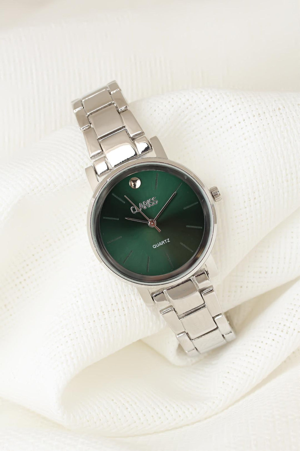 Women's Silver Metal Cord Green Inner Design New Season Watch
