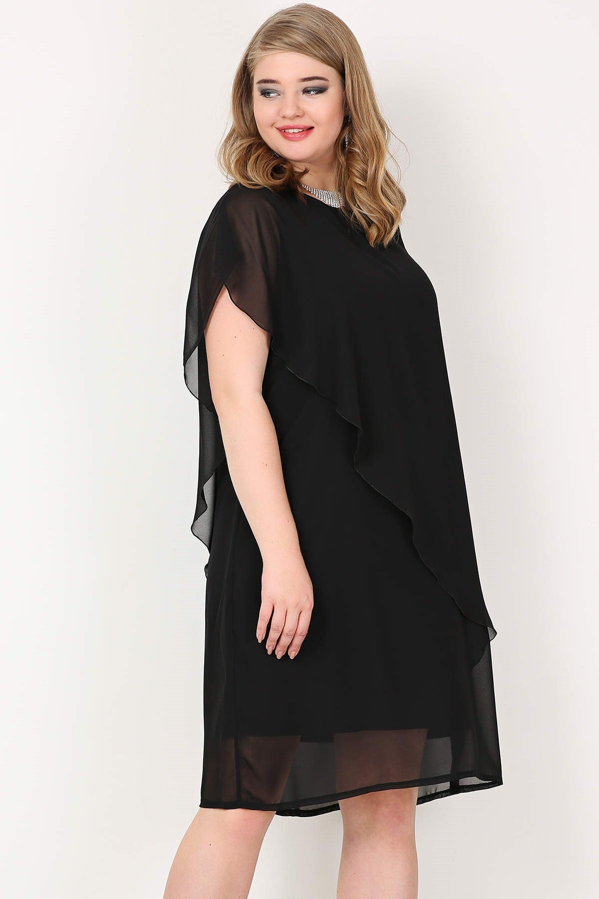 Women's Oversize Chiffon Evening Dress