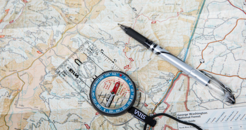 Consider bringing a map and compass with you. Navigation, map and compass, or a gps unit are one of the ten outdoor essentials.