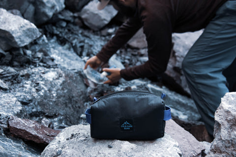 Water, and a way to purify water, is one of the ten outdoor essentials. Our north ridge pouch will stop filters from breaking in cold weather.