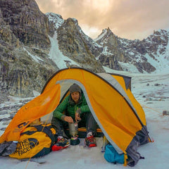 Backcountry Camping in Colorado can be a rewarding experience. Use Cold Case Gear to stop your phone from dying in the cold and keep your food cold for the best experience while at your backcountry camp!