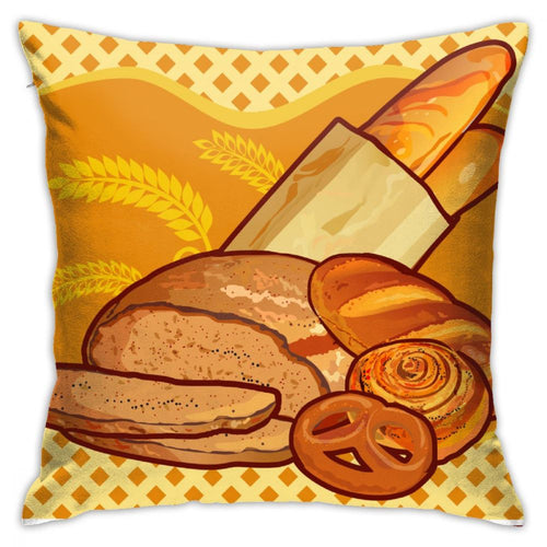 Food Cartoon Graphic Customized Printed Pillowcase 18inch*18inch