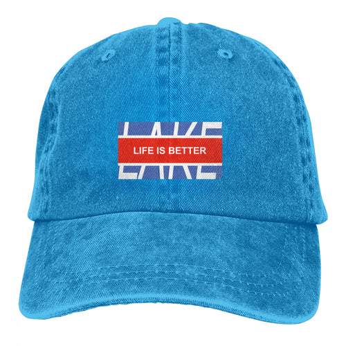 Life Is Better At The Lake Slogan Printed Cap Casquette