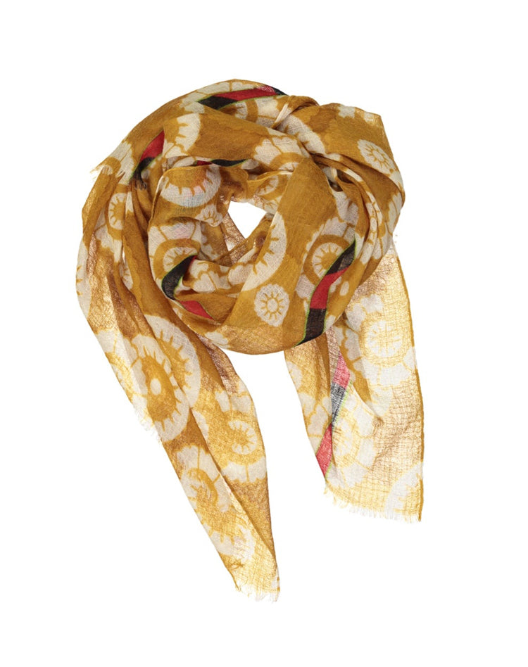 Foulard Flower Ouzbeck Moutarde