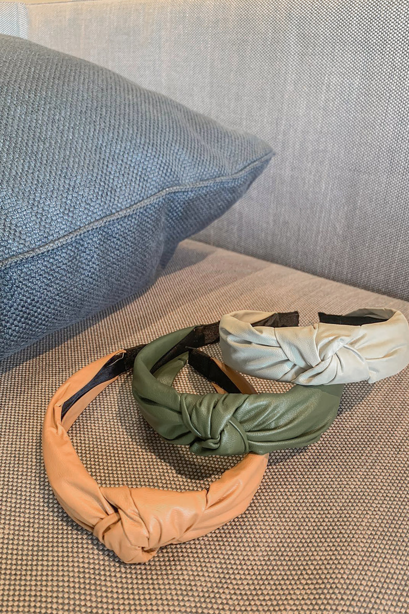Evana Leather Knotted Hairband