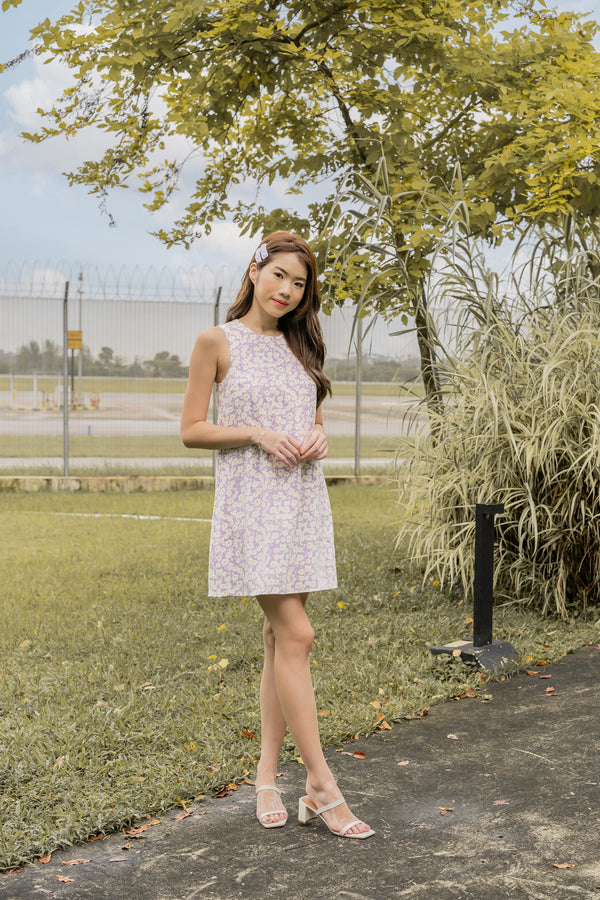 Vittoria Dress in Lilac Fields