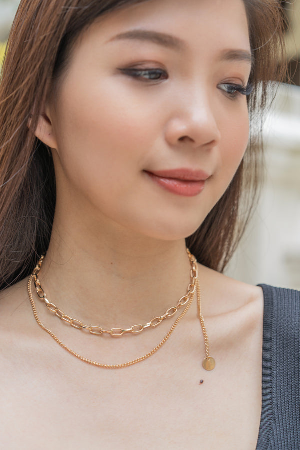 Yasmine Double Chain Necklace