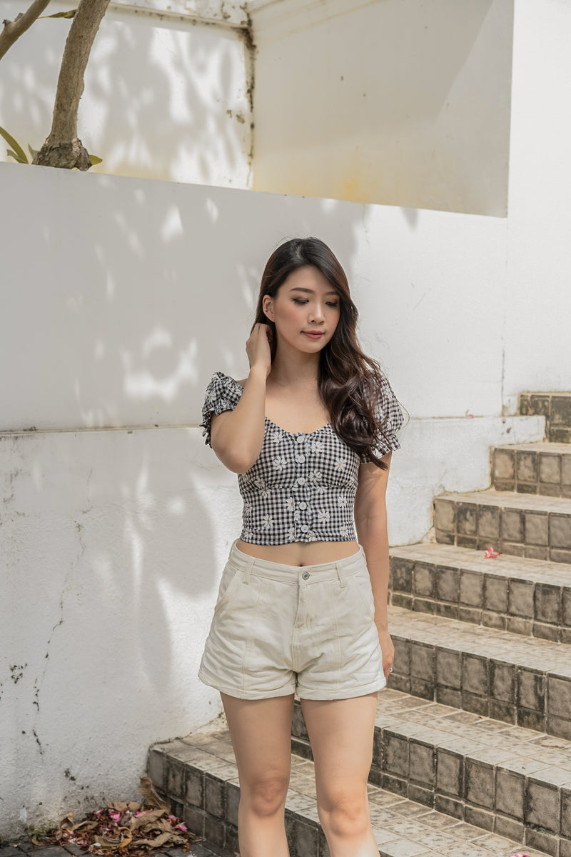 Portia Garden Top in Dark Night