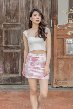 Hayley Tie-dye Skirt in Candy