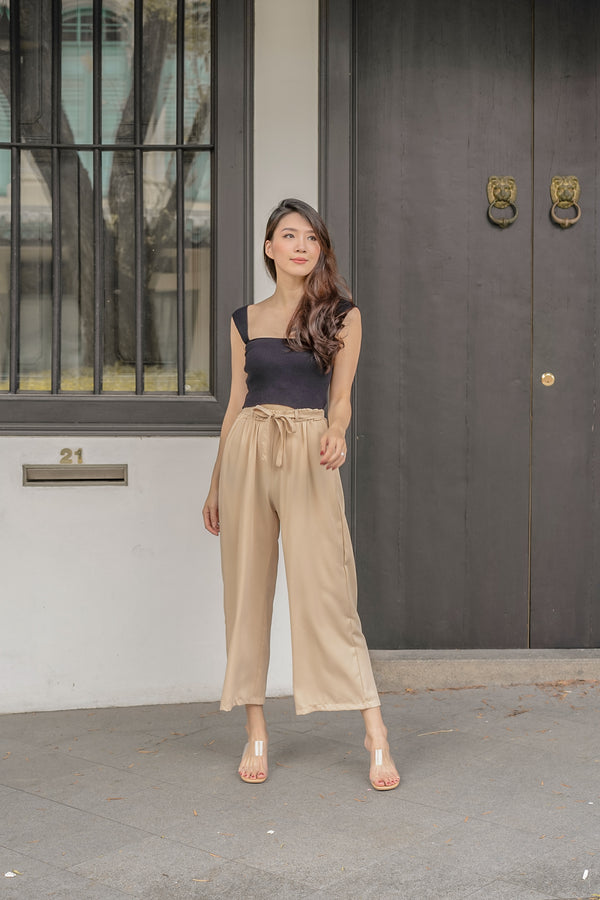 Annette Loose-Fit Pants in Nude