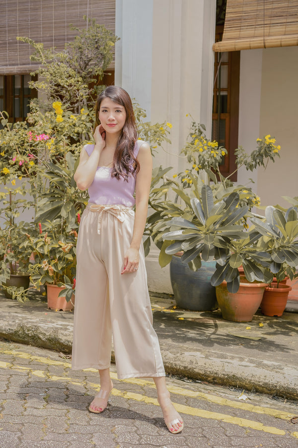 Annette Loose-Fit Pants in Cream