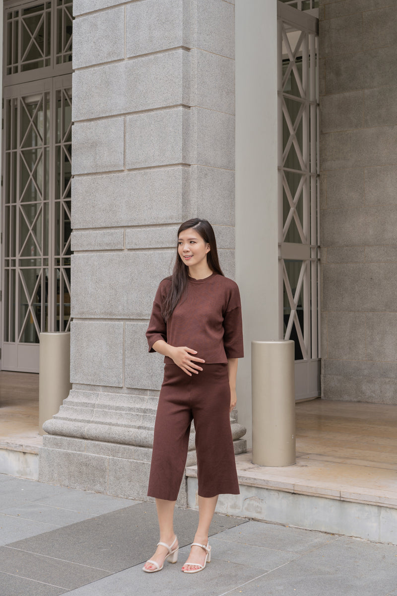 Erica Maternity Co-ord in Chocolate