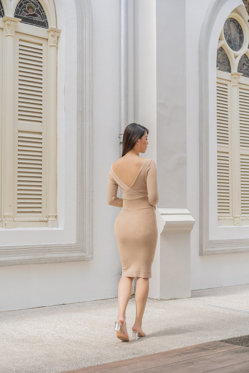Gianna Knit Dress in Sand