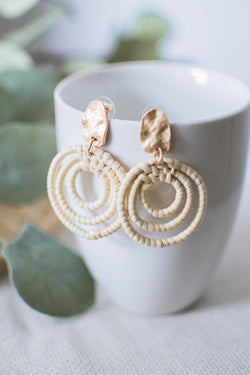 Boho Woven Earrings