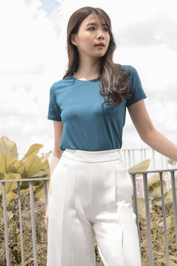 Anja Basic Tee in Teal