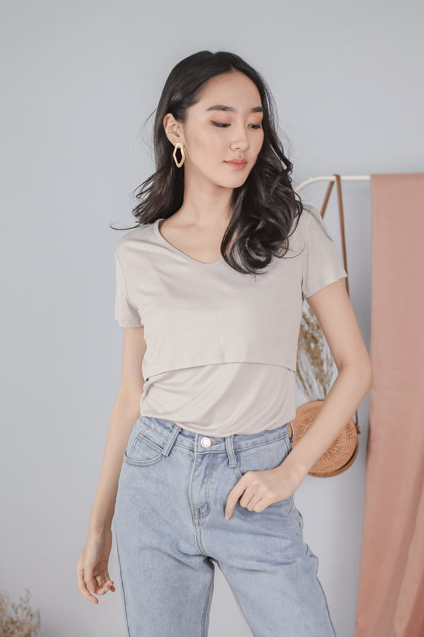 Jamie Nursing Top in Sand