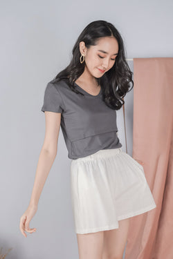 Jamie Nursing Top in Charcoal