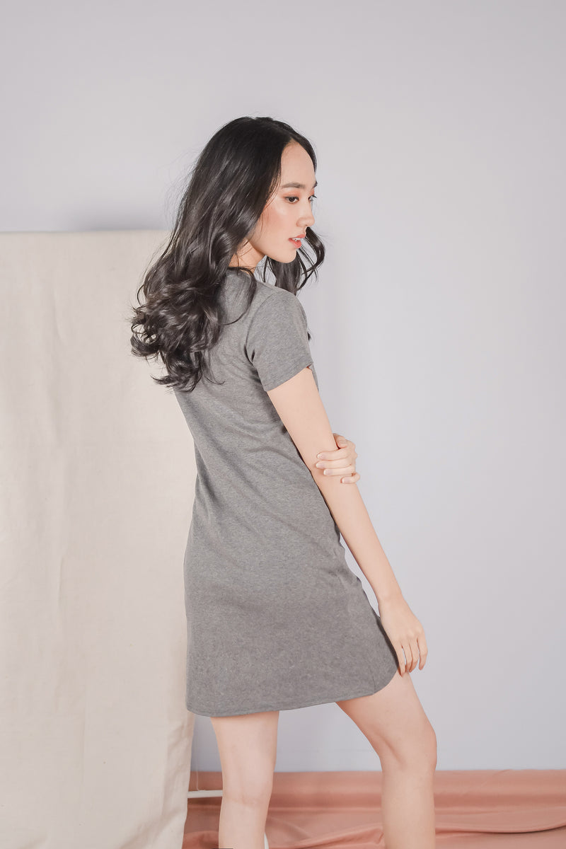 Jael Knotted Nursing Tunic in Grey