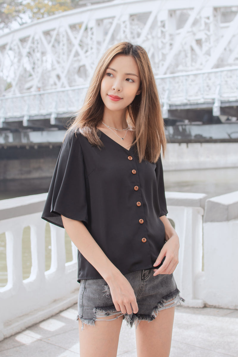 Yvette Blouse in Black