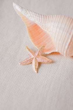 Starfish Gold Hair Clip