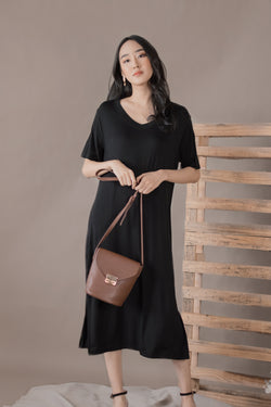 Lorraine Tshirt Dress in Black