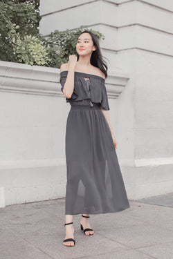 Aurora Maxi in Dark Grey