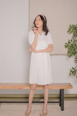 Victoria Wrap Dress in White