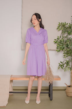 Victoria Wrap Dress in Lilac