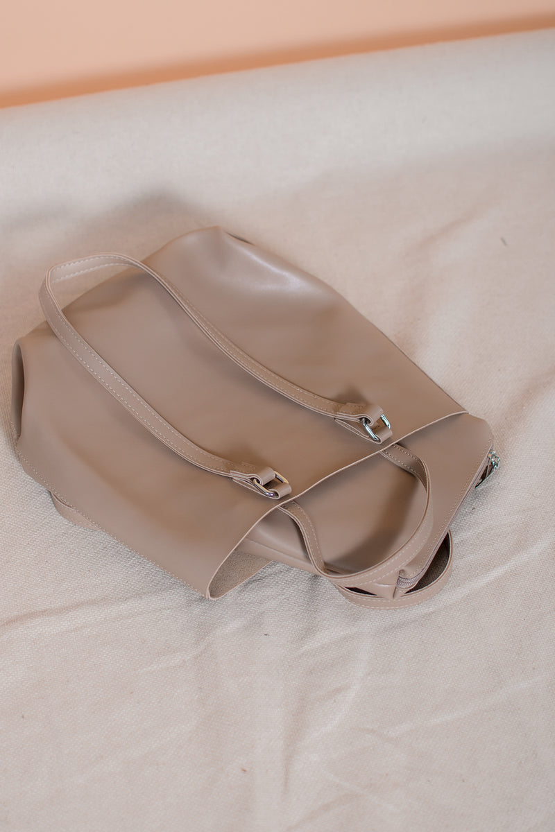 Seymour Leather Bucket Bag in Brown