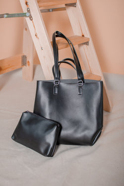 Seymour Leather Bucket Bag in Black