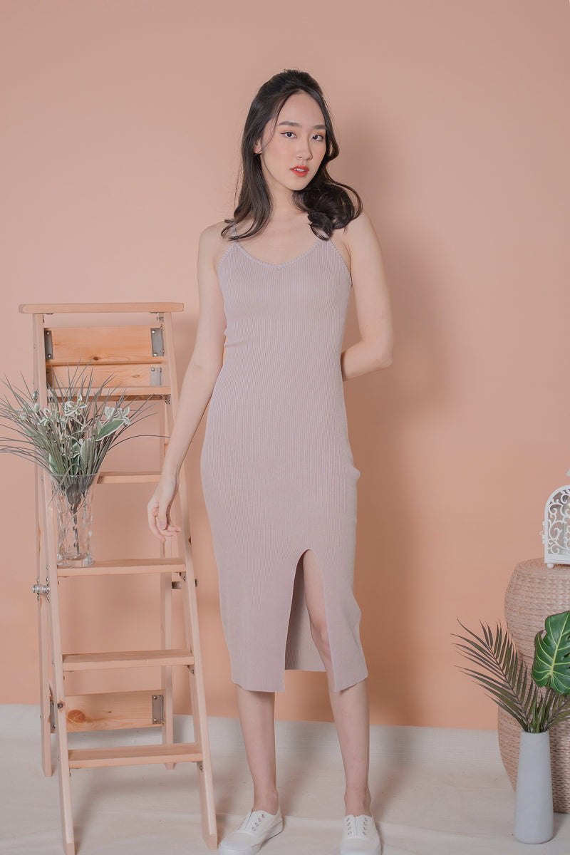 Mikayle Knit Maxi in Dusty Pink