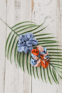 Brittany Blue-Tropical Scrunchie Duo