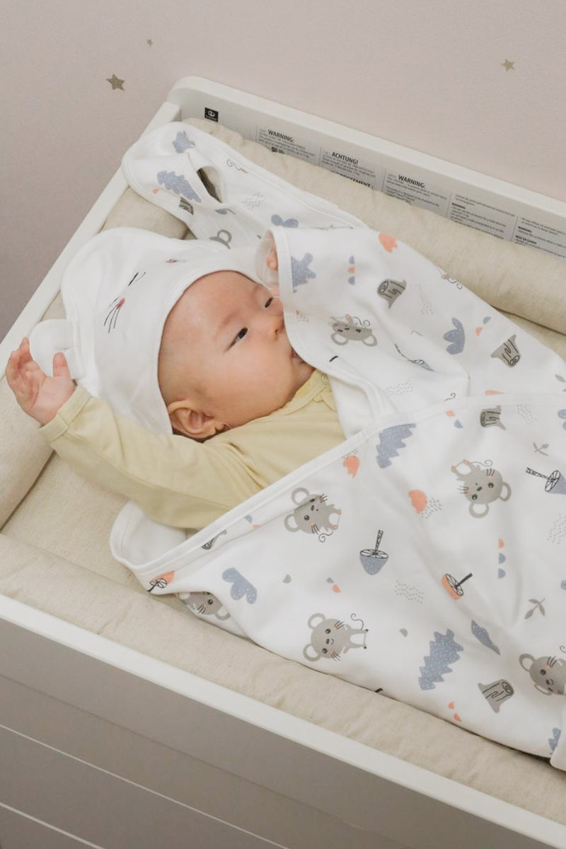Little Mouse Hooded Swaddle