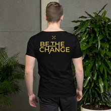 Load image into Gallery viewer, #BetheChange Raw Neck Tee