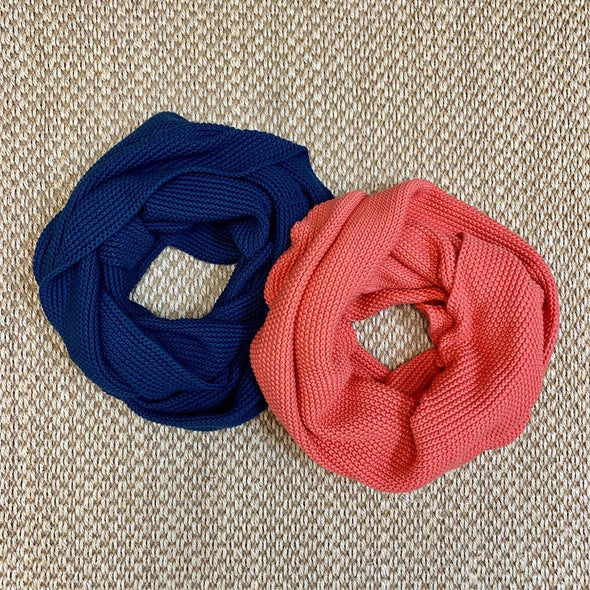 Infinity Scarf Orange or Blue - KimsKlosetKCL