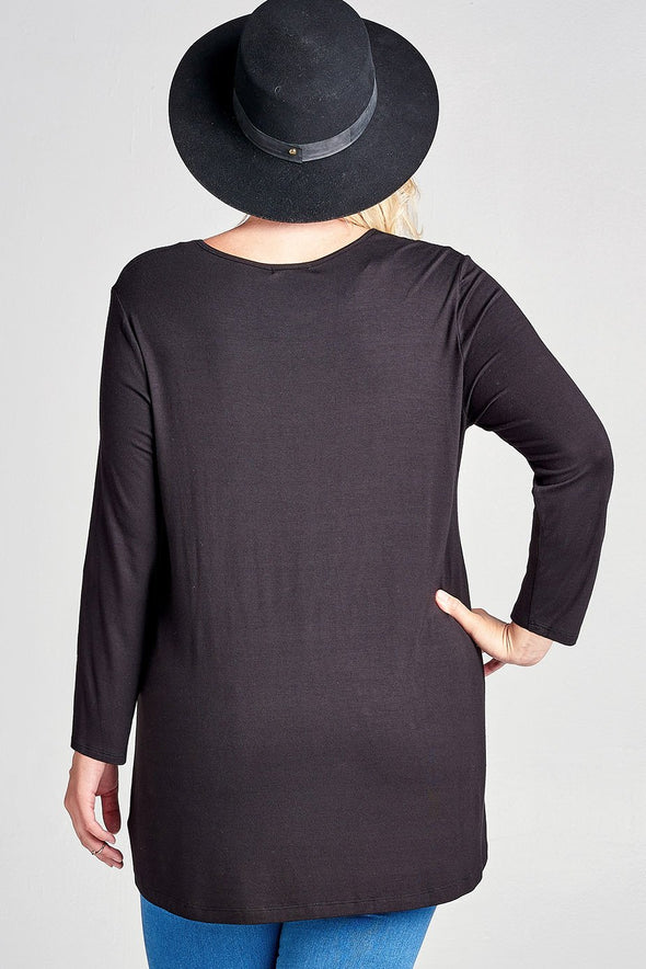 Casual and Comfy Luxe Tunic | Plus Size - KimsKlosetKCL