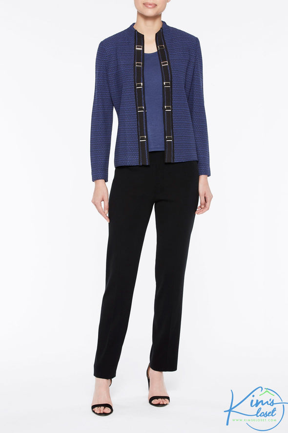 Buckle Trim Knit Jacket - KimsKlosetKCL