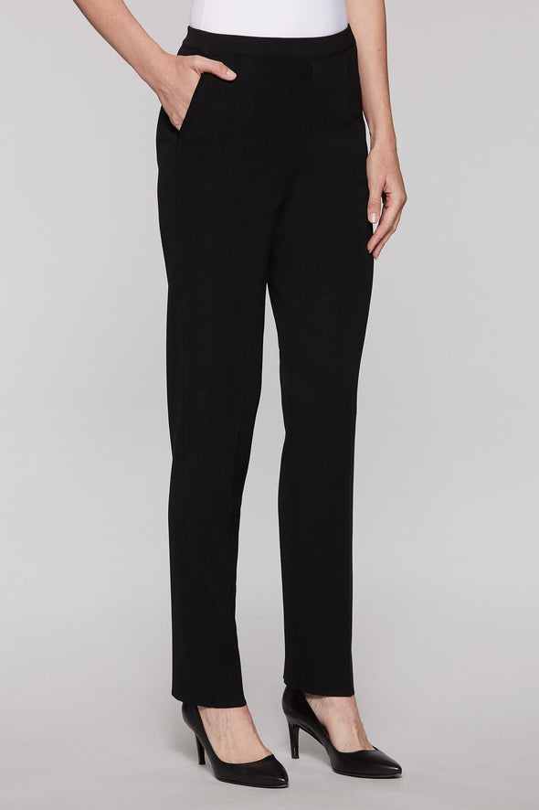 2-Pocket Straight Leg Knit Pant - KimsKlosetKCL