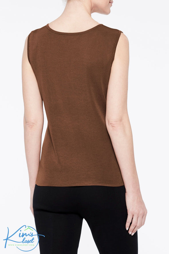 Long Scoop Neck Knit Tank - KimsKlosetKCL
