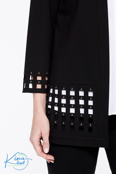 Lattice Hem Ponte Jacket - KimsKlosetKCL