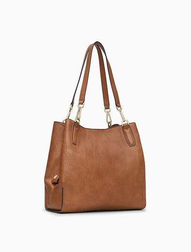 Elaine 3-Compartment Medium Tote Bag - KimsKlosetKCL