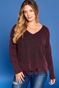Cable Knit Luxe Sweater