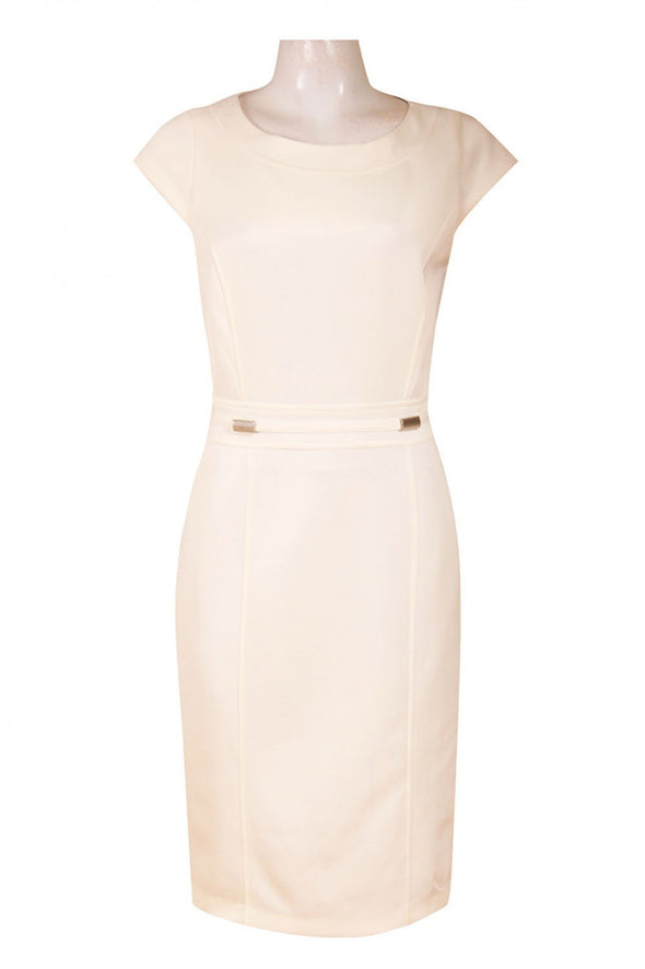 Cap Sleeve Jersey Sheath Dress - KimsKlosetKCL