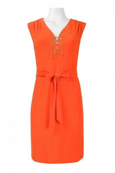 V-Neck Sleeveless Jersey Dress - KimsKlosetKCL