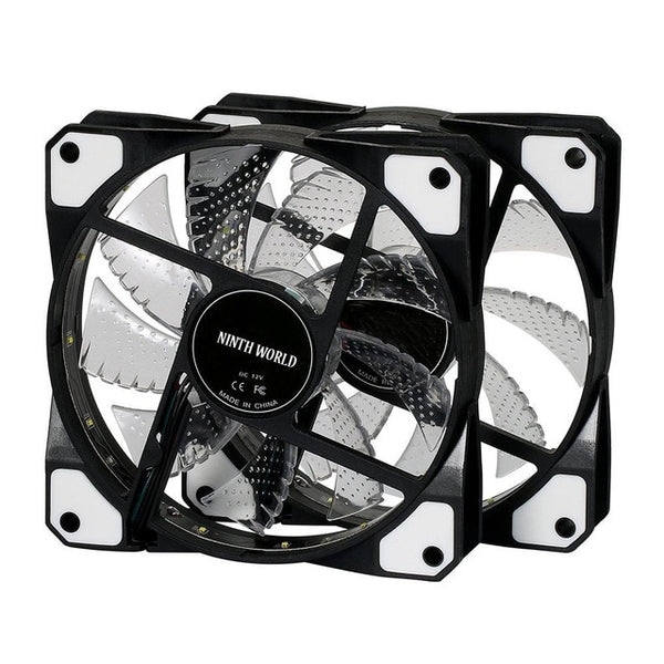 120mm PC Computer 16dB Ultra Silent 15 LEDs Case Fan Heatsink Cooler Cooling w/ Anti-Vibration Rubber 4 Pin IDE