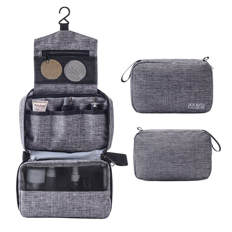Multi Function Folding Cosmetic Bag Zipper Close Hanging Waterproof Men Women