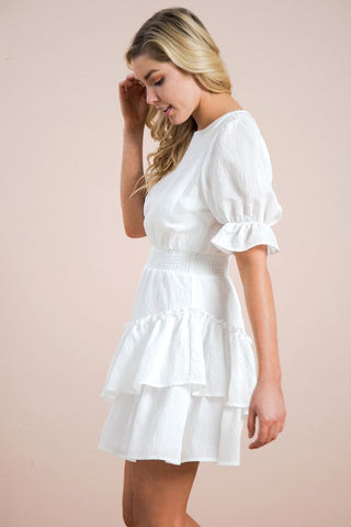 Love Shack Ruffle Dress