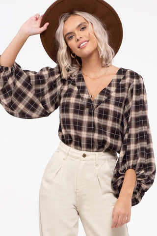 Hidden Valley Plaid Top
